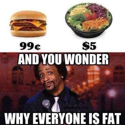 Joke: and you wonder why everyone is fat