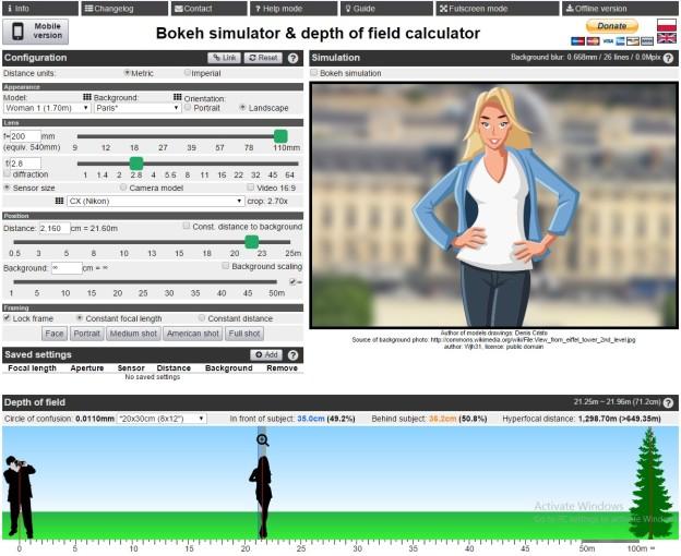 Bookeh simulator: Nikon CX