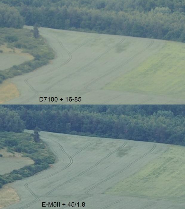 Nikon: výstup priamo z NEF RAW a Olympus:výstup z ORF RAW bez doostrenia a odšumenia