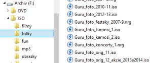 Dáta na disku: ISO archívy
