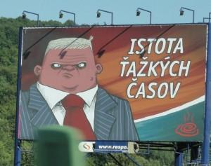 "Antikampaň: billboard ""Istota ťažkých časov"" (9.7.2010)"