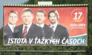 """Billboard SMER-u: kampaň """"Istota v ťažkých časoch"""""""