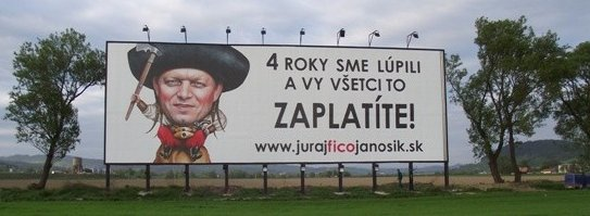 Billboard www.jurajficojanosik.sk (7.5.2011), zdroj: facebook