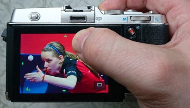 Dotykové ovládanie olympusu - posúvanie obrazu po displeji