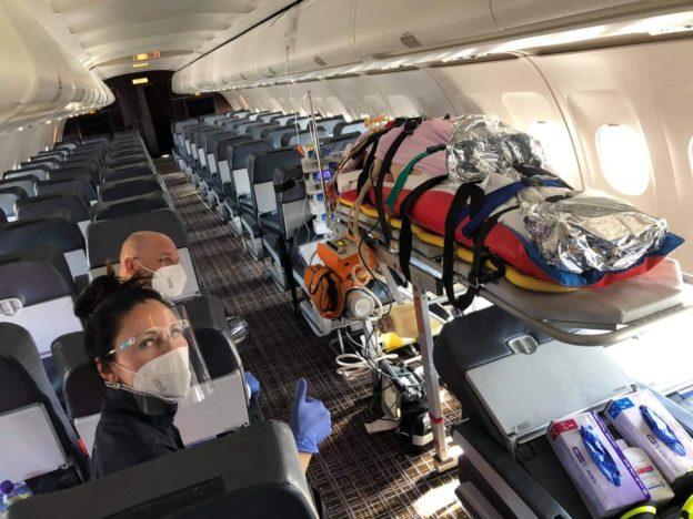 prevážanie jedného pacienta lietadlom